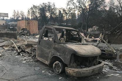 Paradise, en Californie, est devenue une ville fantôme après l'incendie CampFire qui a tout emporté. Novembre 2018