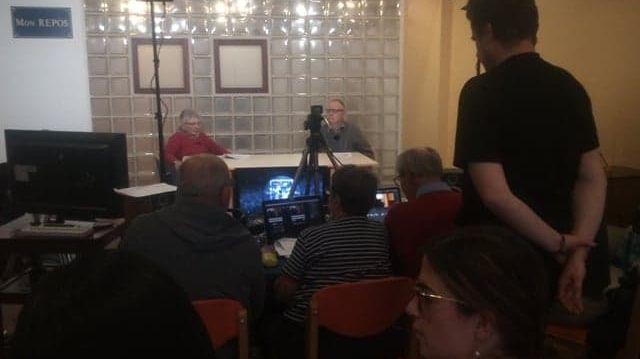 Dernière répétition avant le direct pour l'équipe de Champfleury Tv