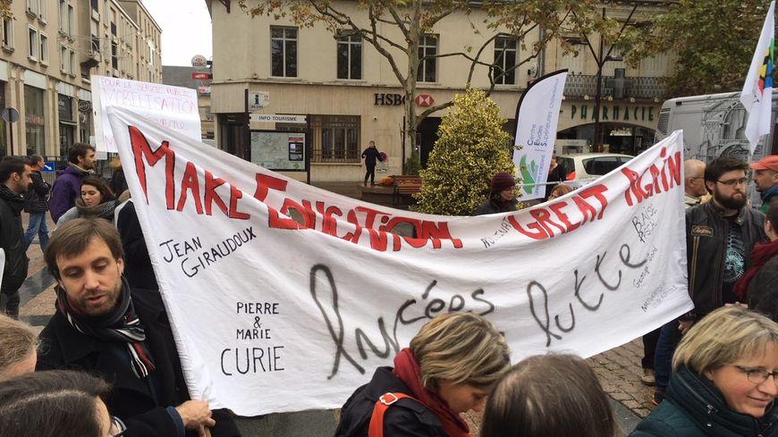 Entre 150 et 200 manifestants ont été comptabilisés à Châteauroux dans l'Indre.