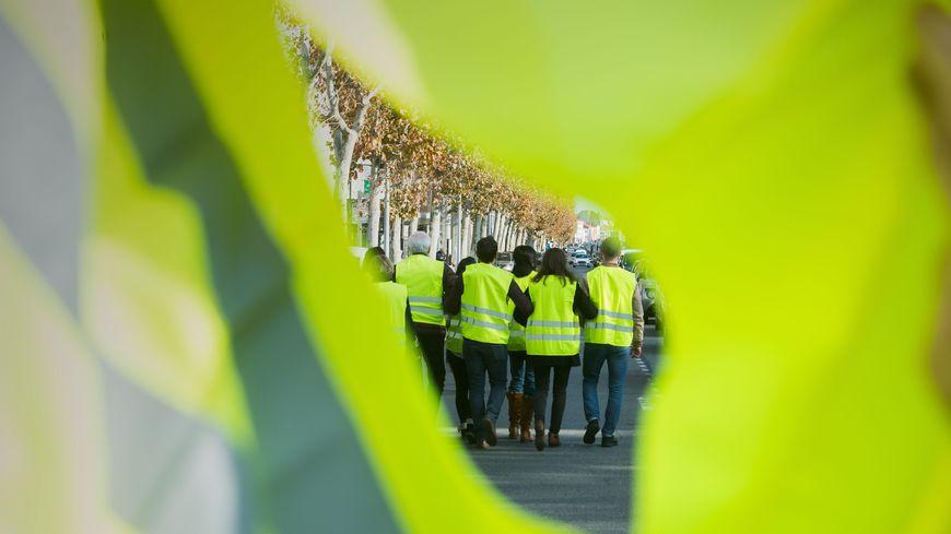 Manifestation des gilets jaunes.