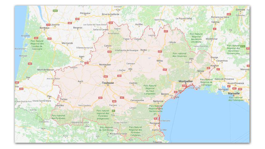L'Occitanie est la 2e plus grande région de France métropolitaine