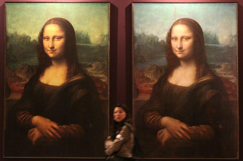 des copies de La Joconde dans une exposition consacrée à Vinci à Macao en 2007