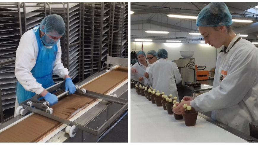 Les salariés de l'usine Réauté Chocolat ne ménagent pas leur monture à l'approche de Noël