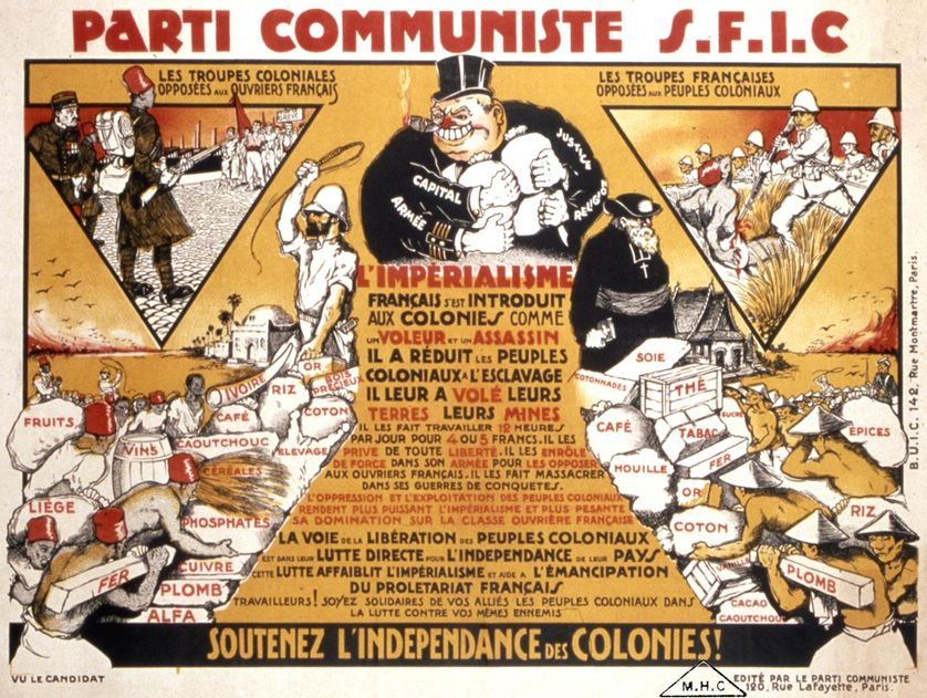 Affiche anti-colonialiste du PC