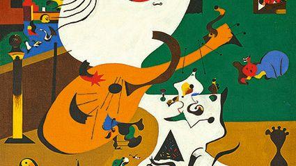 Joan Miró Intérieur hollandais (I) 1928 huile sur toile, 91,8 x 73 cm États-Unis, New York The Museum of Modern Art Mrs. Simon Guggenheim Fund, 1945