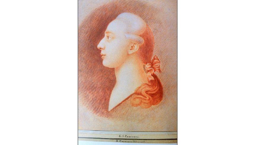 Portrait de Casanova issu de l'expo 'Le monde de G.Casanova' 'Un Vénitien en Europe'.