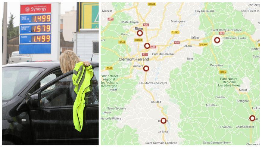 Carte Blocage 17 Novembre Bourgogne.Carte Gilets Jaunes Les Blocages Prevus Dans Les Quatre