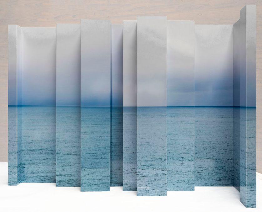 "Bruno Fontana, ""Bord de mer"", installation"