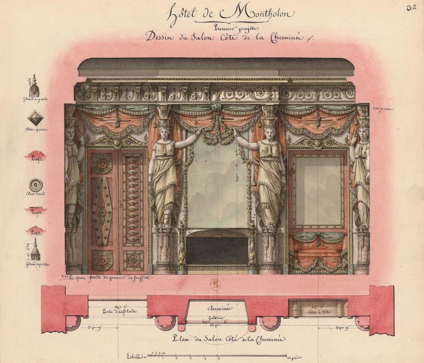 Hôtel Montholon. Projet de salon. BnF, département des Estampes et de la photographie.