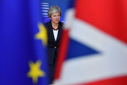 Theresa May à Bruxelles dimanche 25 novembre 2018 pour le sommet spécial de l'Union européenne consacré à l'Accord sur le Brexit.
