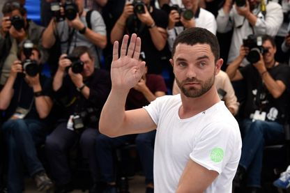 Guillaume Gouix, acteur français, lors du 68ème Festival de Cannes, le 18 mai 2015.