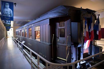 Reconstitution du wagon de Rethondes où eut lieu la signature de l'Armistice de 1918