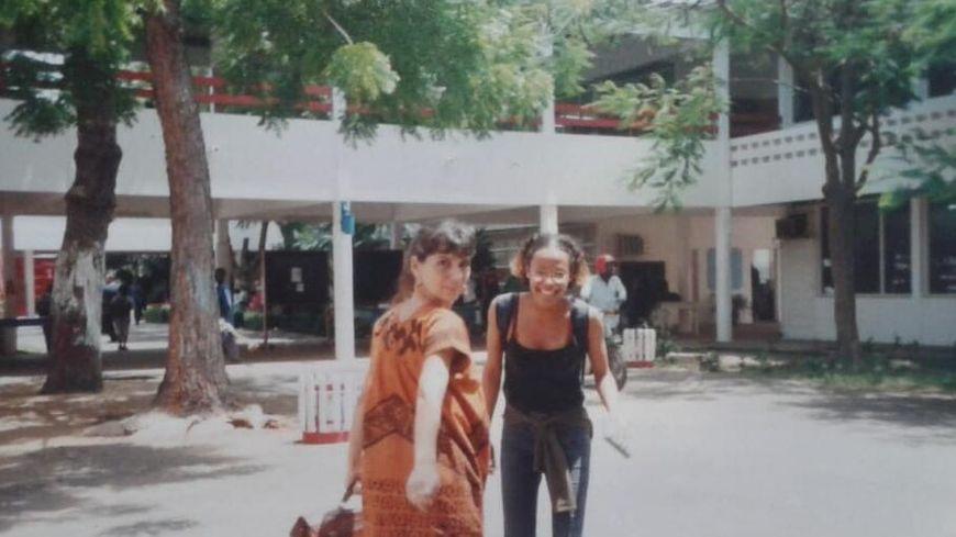 Isabelle Marcos Likouka au lycée français de Lomé au Togo.