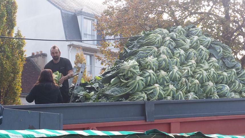 Le producteur Guy Martin avait ramené pas moins de 12 tonnes de choux.