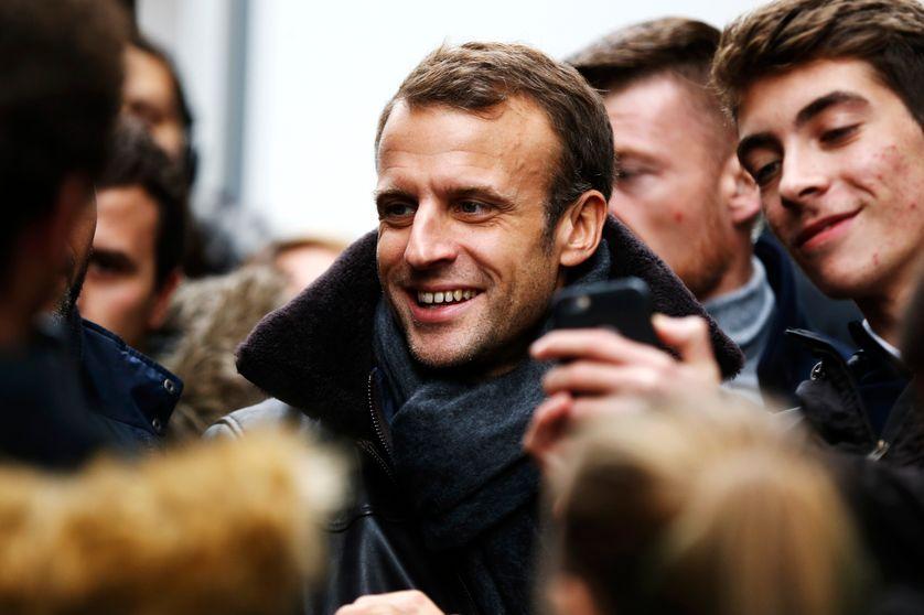 Emmanuel Macron à Honfleur le 1er novembre 2018