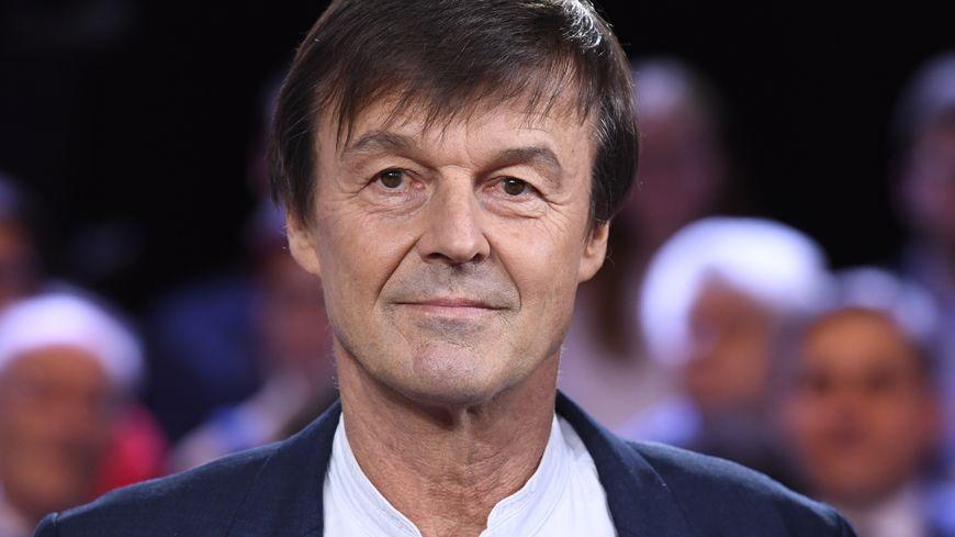 Nicolas Hulot sur le plateau de l'émission politique de France 2.