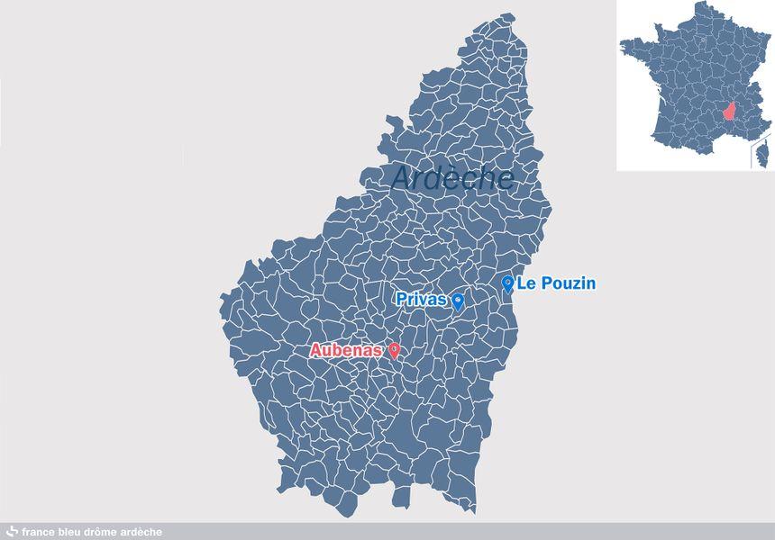 Plus de 14 kilomètres séparent Pirvas du Pouzin, en Ardèche