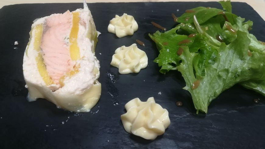 la terrine de saumon à la mangue