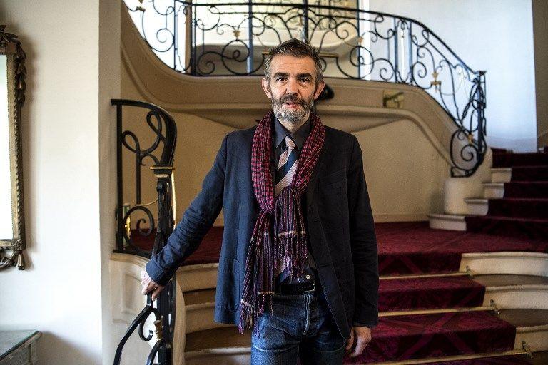 """Philippe Lancon, après avoir gagné le Prix Femina 2018 pour son roman, """"Le Lambeau""""."""