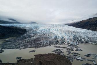 Fonte dramatique de la calotte glaciaire Vatnajökull, en Islande : la plus grande calotte glaciaire du pays et le 2ème plus grand glacier d'Europe.
