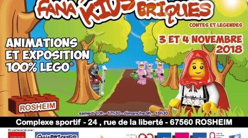 """Affiche Expo Fana'Kids""""briques"""