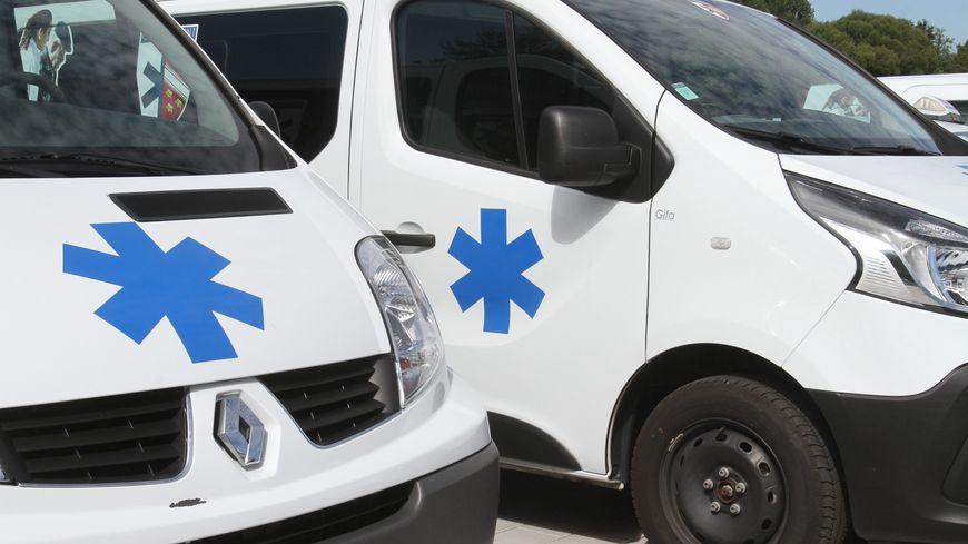 Manifestation des ambulanciers ce lundi matin.