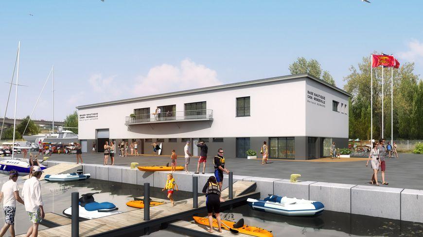 Modélisation 3D de la future base nautique de Caen-Mondeville «Bernard-Génard» ©www.images-in-situ.fr