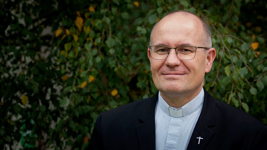 L'abbé Jean Bondu, vicaire général du diocèse de Luçon.