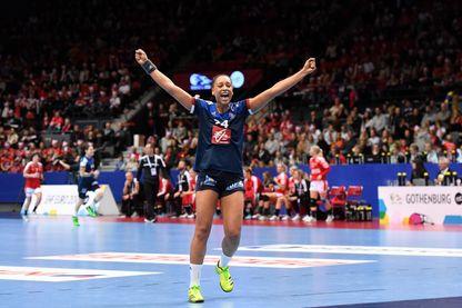 Béatrice Edwige, joueuse de l'équipe de France de Handball.