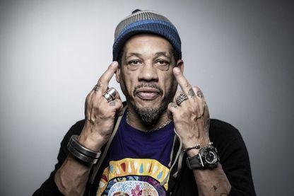 JoeyStarr, rappeur français (né Didier Morville), considéré comme l'un des piliers du hip-hop français, membre du groupe NTM dans les années 1990.