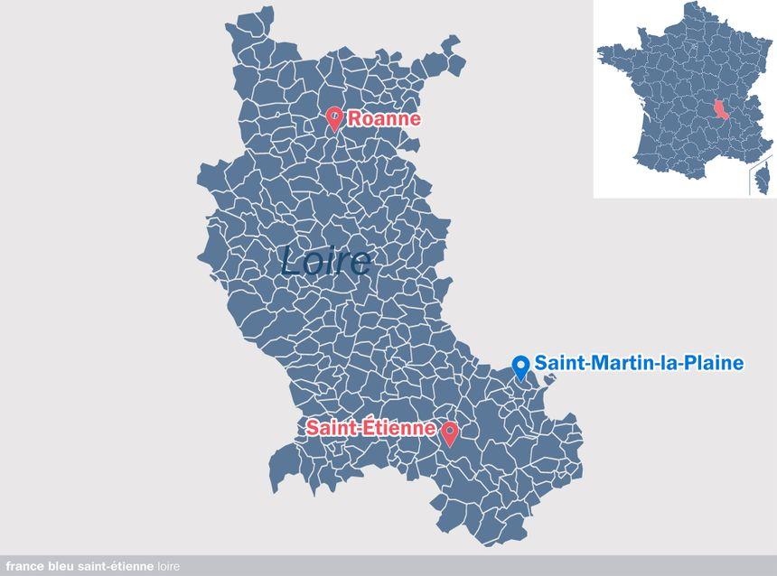 Saint-Martin-la-Plaine, dans la Loire