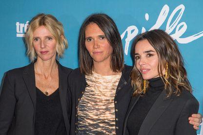 """Sandrine Kiberlain, Jeanne Henry et Elodie Bouchez, lors de la première de """"Pupille""""."""