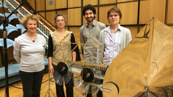 De G à D : Claire Renard, Catherine Brisset, Florentin Ginot et Eve Payeur en juin 2017 au studio 106