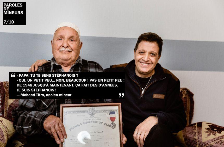 Mohand Tifra est arrivé à Saint-Étienne en 1948 et a débuté la mine à 19 ans.