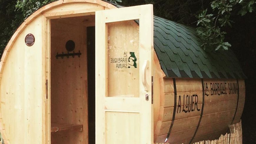 La barrique Sauna de pierre Dorval