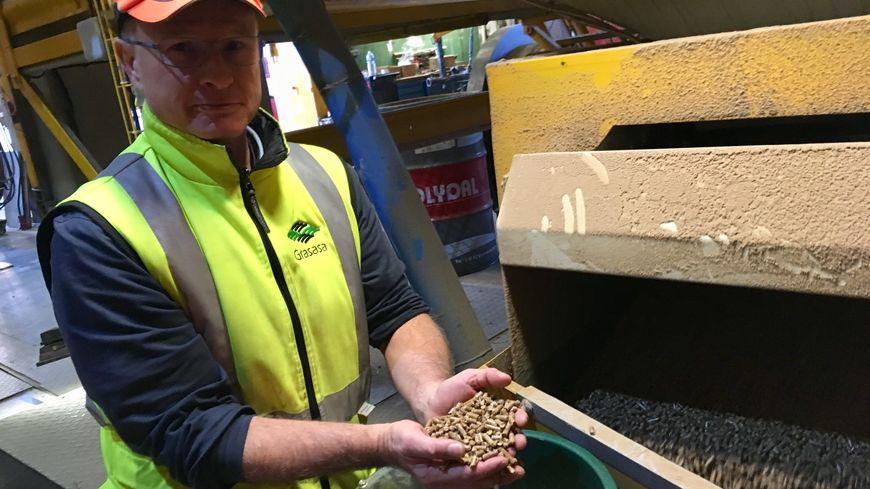 Ldes granulés de bois sont produits à partir de déchets
