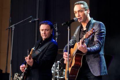 Jean-Baptiste Guégan, sosie vocal de Johnny Hallyday, en concert devant 6000 personnes à Calais en juillet dernier.