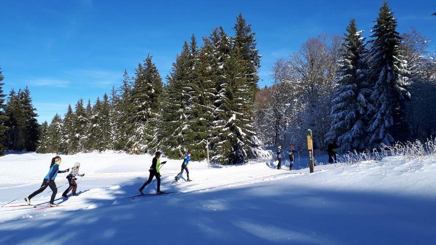 35 km de pistes sont ouvertes et tant que la neige tient, elles le resteront.