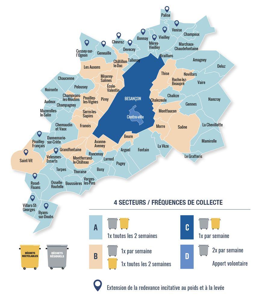 Grand Besançon: une nouvelle organisation de la collecte des