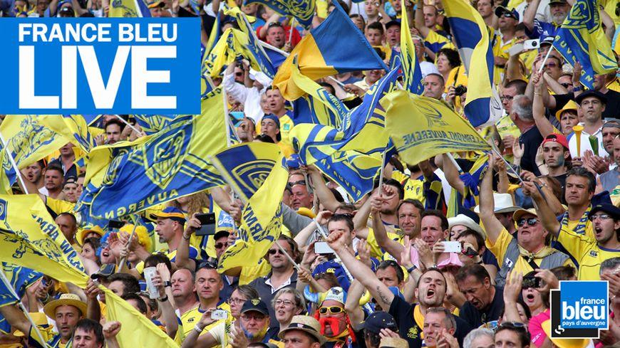 Légende : Suivez Montpellier-Clermont ce samedi 1er décembre en direct sur France Bleu pays d'Auvergne.