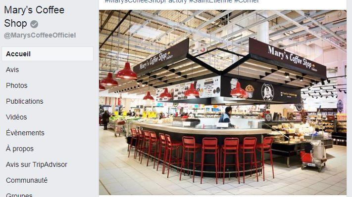 Le nouveau concept du Mary's Coffee Shop annoncé sur Facebook