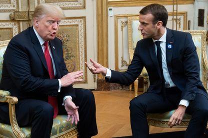 Donald Trump a rencontré Emmanuel Macron à l'occasion des cérémonies du 11 novembre dans un climat tendu