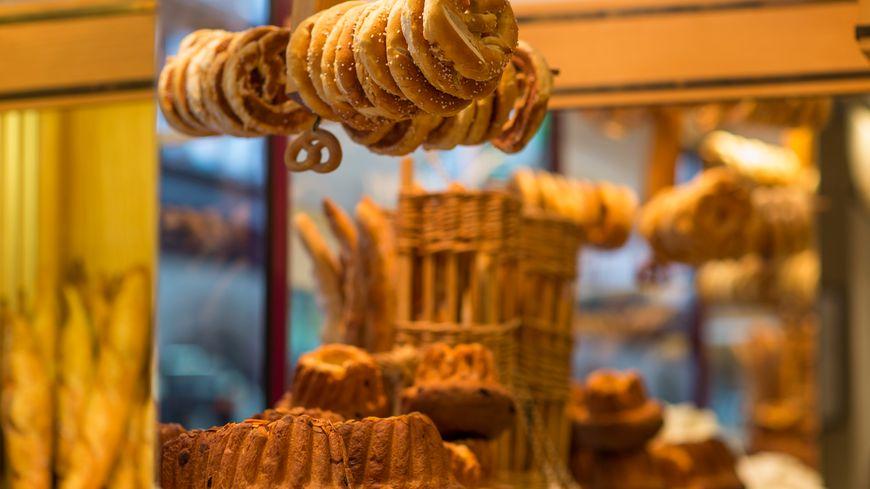 En Alsace, à la boulangerie. Illustration