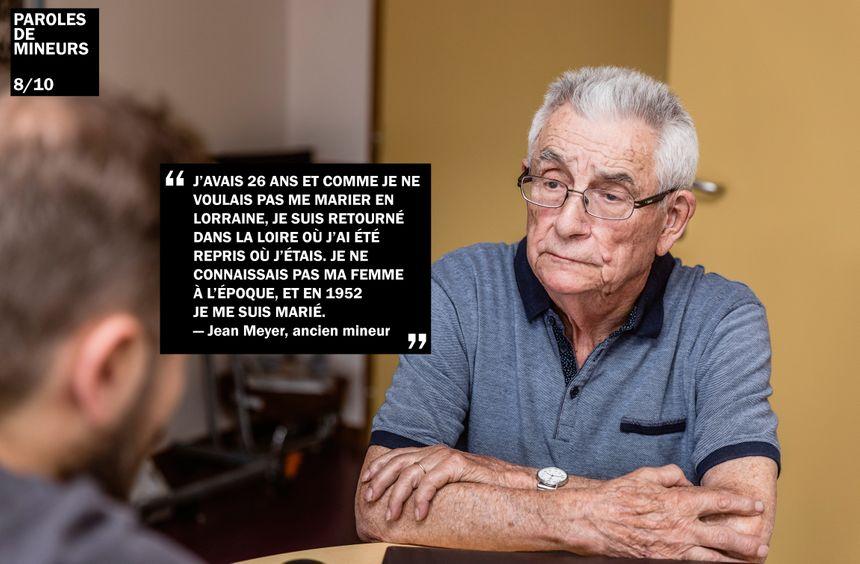 Jean Meyer, témoigne de sa vie de mineur
