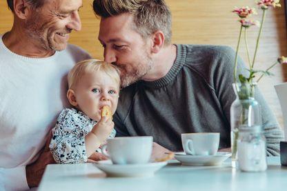 Couple homosexuel avec un enfant