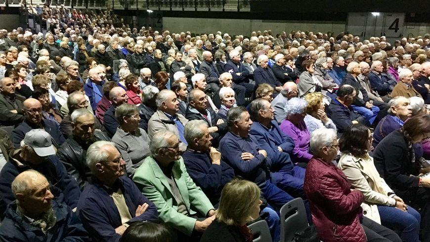 Près d'un millier de retraités agricoles étaient réunis au Palio