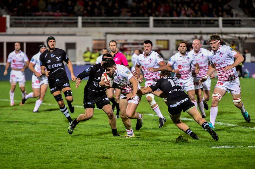 Theo Dachary auteur d'un essai ce vendredi soir face à Provence Rugby.