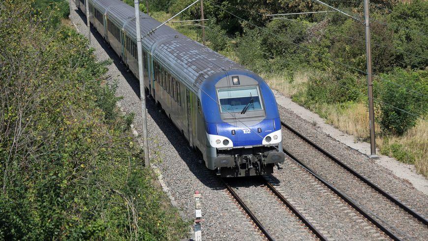 Un TER 200 qui circule entre Strasbourg et Bâle (Suisse).