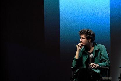 Vincent Lacoste, acteur français, lors d'une session de questions-réponses au 56ème festival du film de New York, au Alice Tully Hall, Lincoln Center, le 30 septembre 2018.