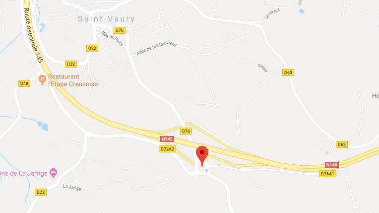 Les faits ont eu lieu au niveau d'un rassemblement de gilets jaunes à Saint-Vaury, aux abords de la RN 145.